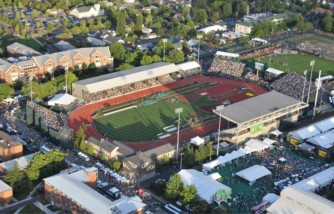 Hayward Field Eugene Oregon Daily Track Pic
