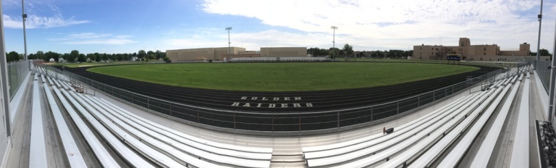 Panoramic view of track.