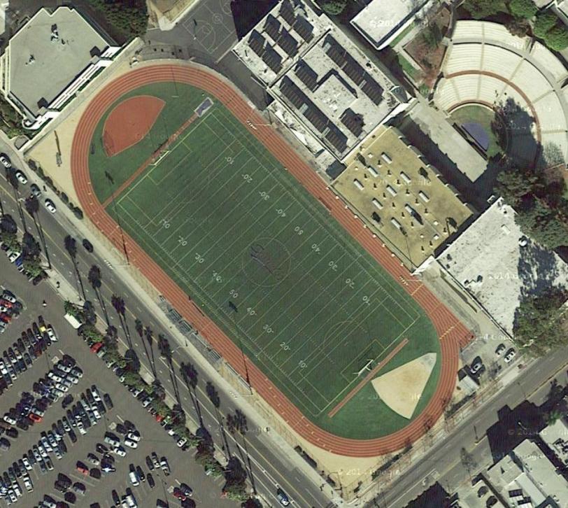 Santa Monica HS overhead