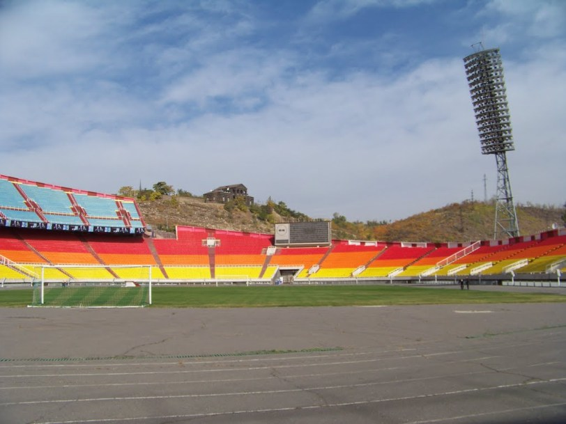 Hrazdan Central Stadium track