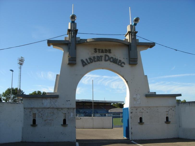 The entrance to Stade Albert Domec.